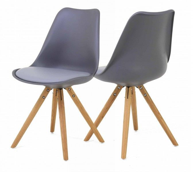 Chaise design Cross (Lot de 2)-4