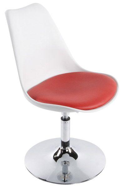chaise design victoria blanc rouge. Black Bedroom Furniture Sets. Home Design Ideas