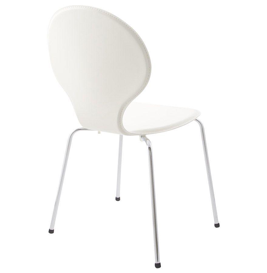 chaise design contemporain vlind cr me. Black Bedroom Furniture Sets. Home Design Ideas