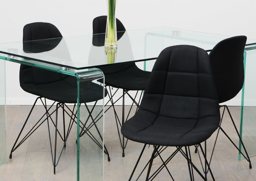 Chaise design m tal et tissu - Chaises en tissus design ...