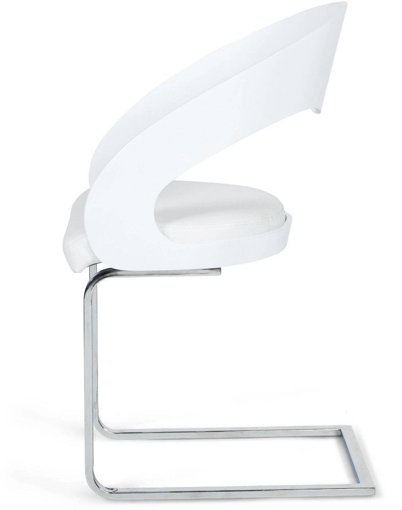 chaise design similicuir mona - Chaises Blanches Simili Cuir