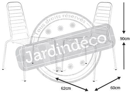 Chaise empilable menu Nacre en Aluminium (Lot de 2)-4