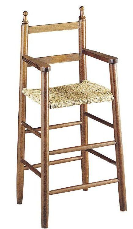 Chaise haute pour enfant en h tre marron - Chaise haute pour enfant ...