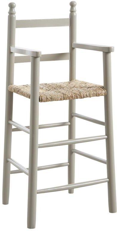 chaise haute pour enfant en h tre gris. Black Bedroom Furniture Sets. Home Design Ideas