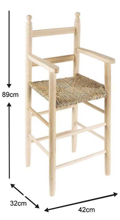 chaise haute pour enfant en h tre brut. Black Bedroom Furniture Sets. Home Design Ideas