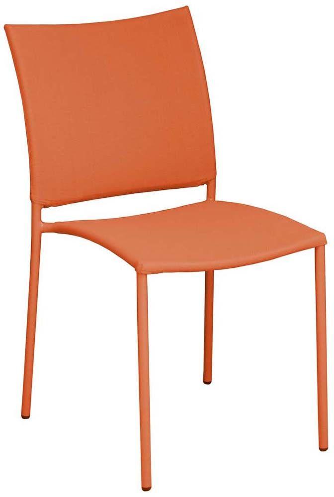 chaise de jardin design bonbon lot de 6 paprika. Black Bedroom Furniture Sets. Home Design Ideas