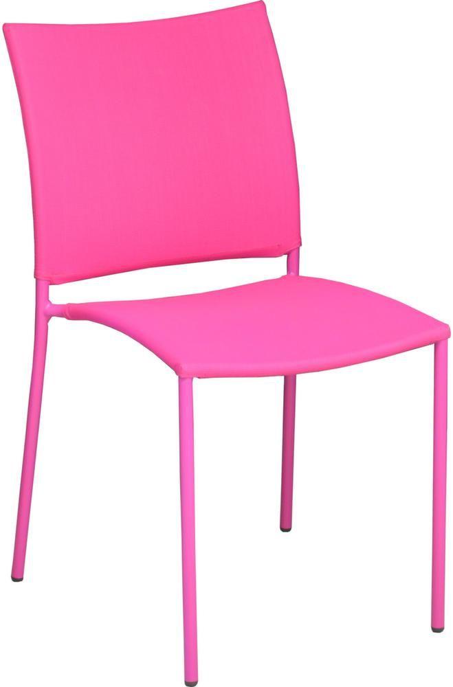 chaise de jardin design bonbon lot de 6 framboise. Black Bedroom Furniture Sets. Home Design Ideas