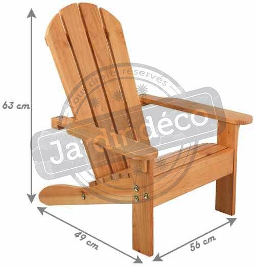 chaise de jardin enfant en bois adirondack. Black Bedroom Furniture Sets. Home Design Ideas