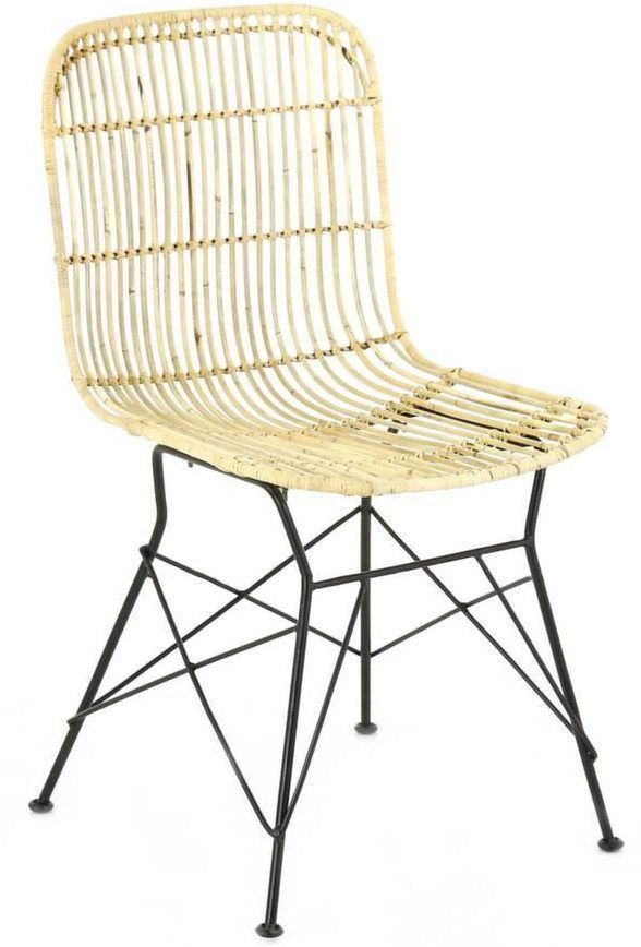 Chaise en kubu naturel Beauty (Lot de 2) sur Jardindeco