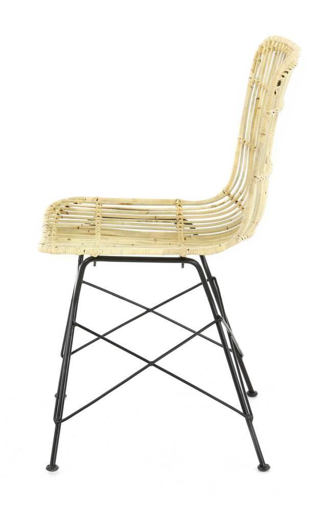Chaise en kubu naturel beauty lot de 2 - Chaise en kubu tresse ...