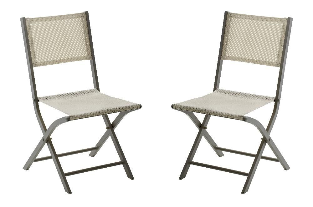 Chaise pliante Modulo (Lot de 2)-2