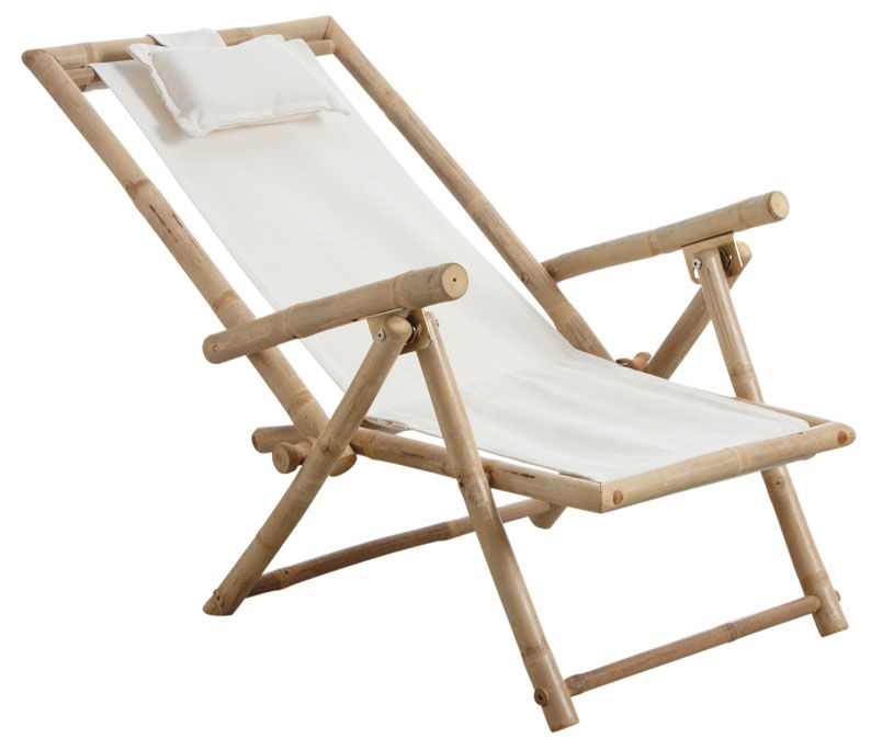 Chaise relax pliante en bambou by Aubry gaspard