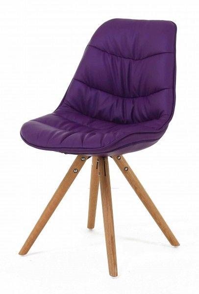 chaise repas design lotus lot de 2 violet. Black Bedroom Furniture Sets. Home Design Ideas