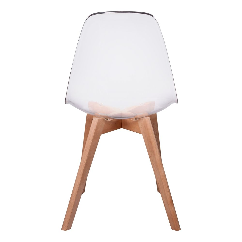chaise scandinave coque transparente