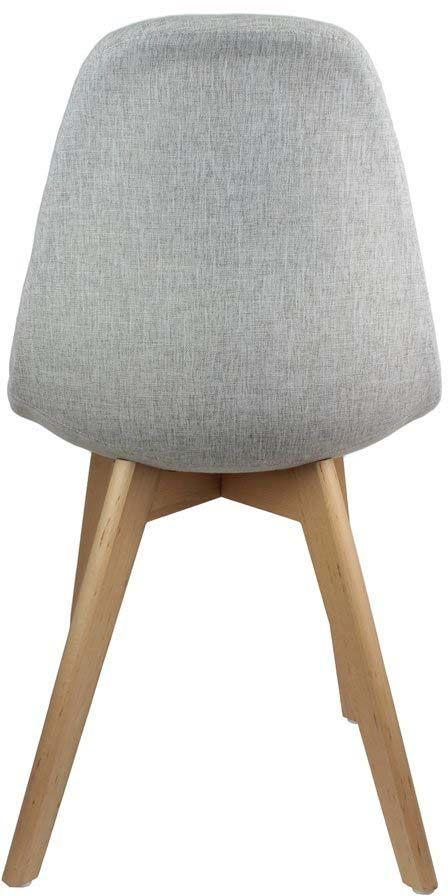 chaise scandinave en tissu et pieds en bois lot de 2 gris. Black Bedroom Furniture Sets. Home Design Ideas