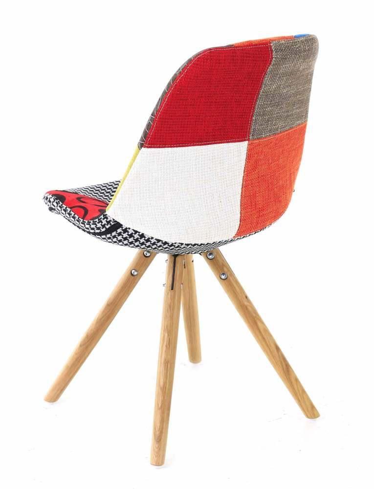 chaise en tissu patchwork lot de 2. Black Bedroom Furniture Sets. Home Design Ideas