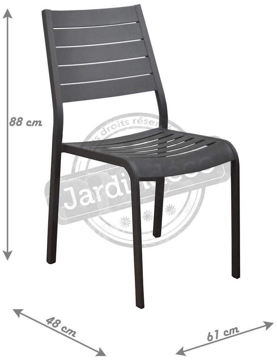 chaises en aluminium flower lot de 2 gris. Black Bedroom Furniture Sets. Home Design Ideas