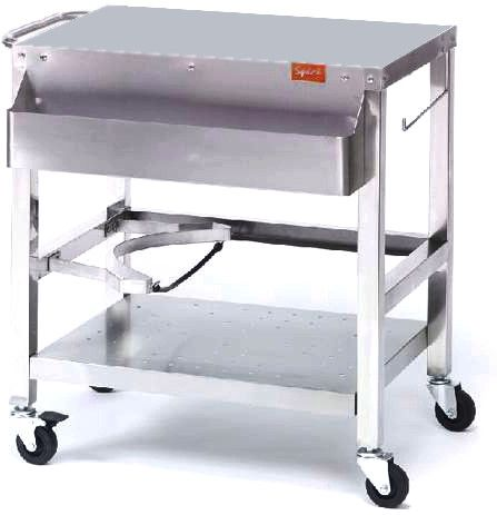 Chariot plancha inox speci for Chariot cuisine exterieure