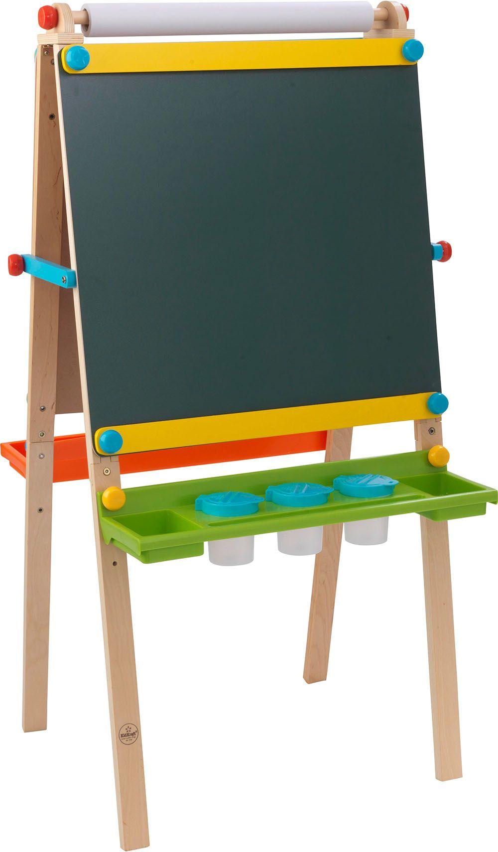 chevalet de dessin en bois pour enfant avec rouleau pap. Black Bedroom Furniture Sets. Home Design Ideas