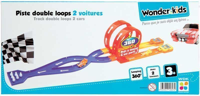 Circuit Double loops 2 voitures