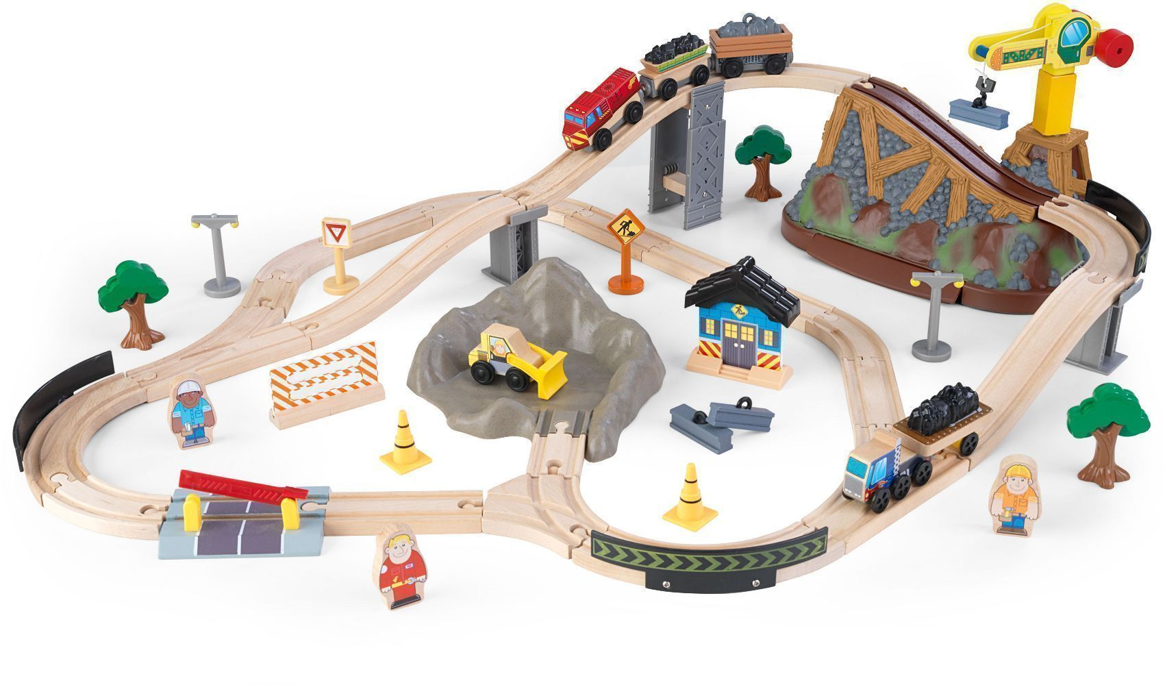 Circuit de train Bucket top en bois sur Jardindeco