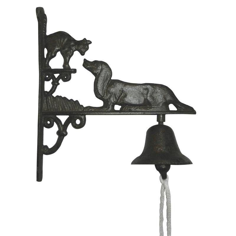 cloche de jardin chien et chat en fonte. Black Bedroom Furniture Sets. Home Design Ideas