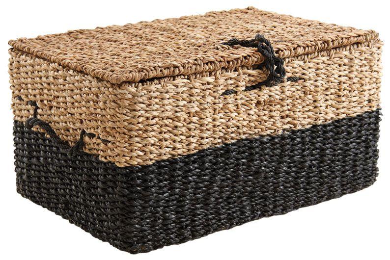 coffre en jonc de mer lot de 3. Black Bedroom Furniture Sets. Home Design Ideas