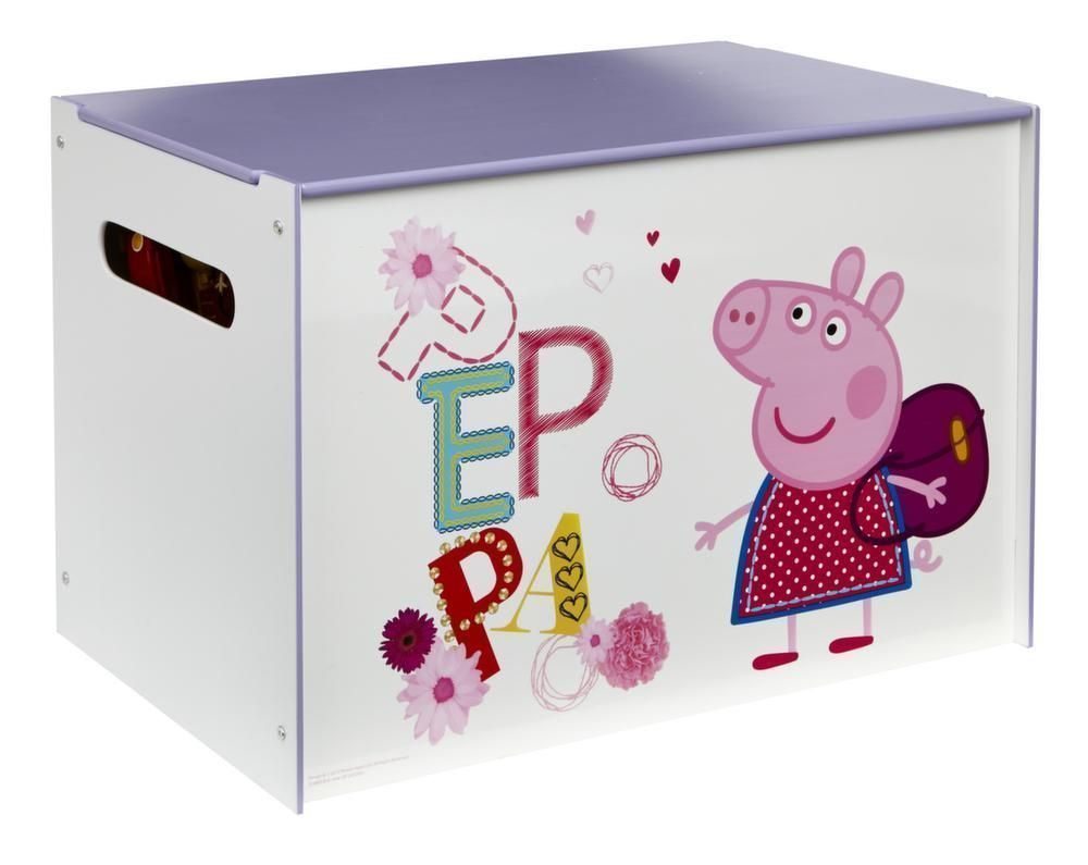 coffre jouets peppa pig. Black Bedroom Furniture Sets. Home Design Ideas