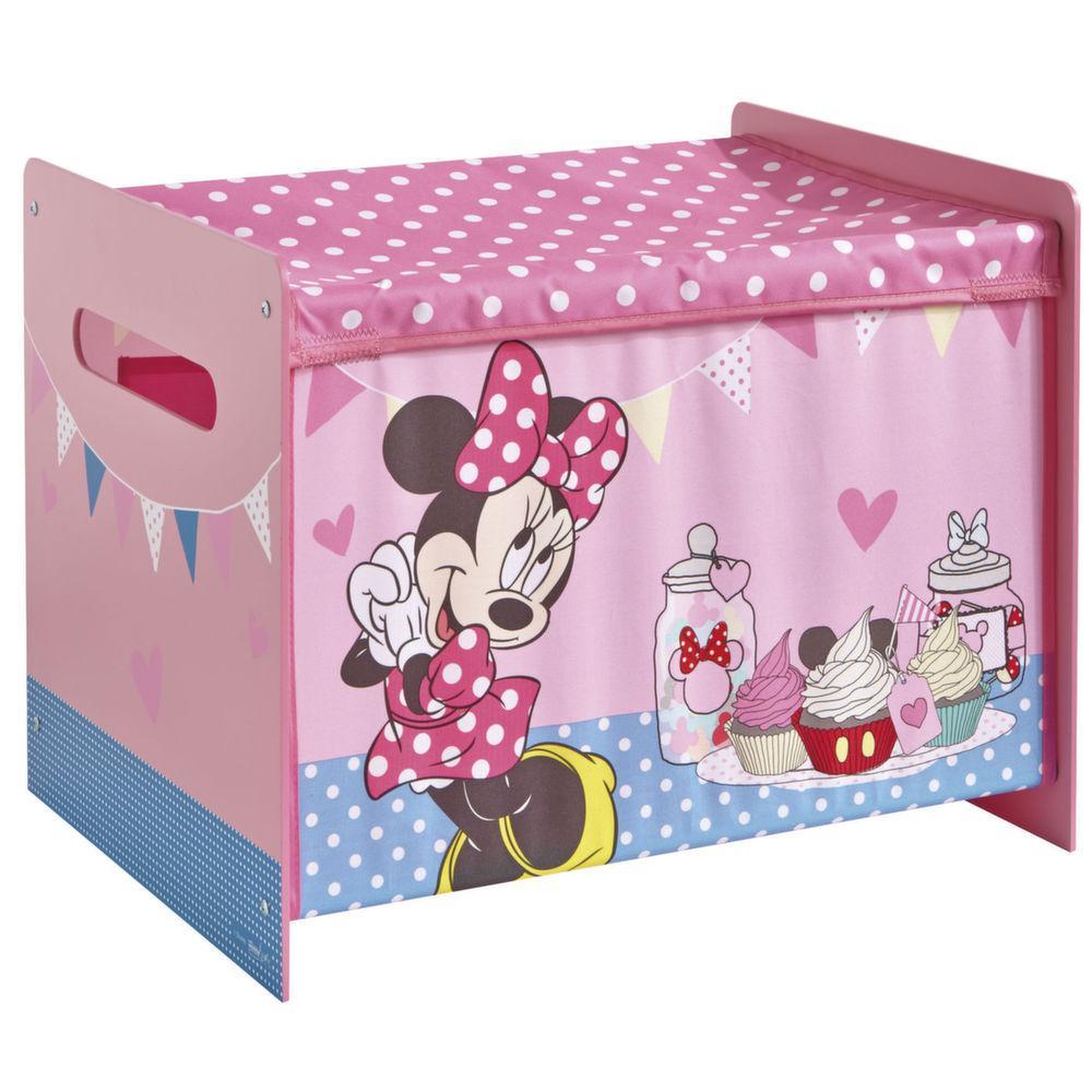 Coffre jouets premium disney minnie - Coffre a jouet plastique ...