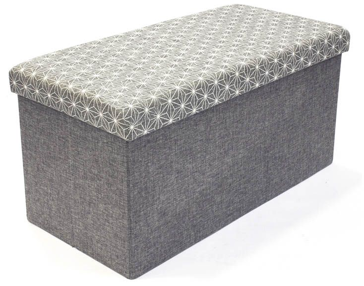 Coffre rangement banc tissu by The concept factory