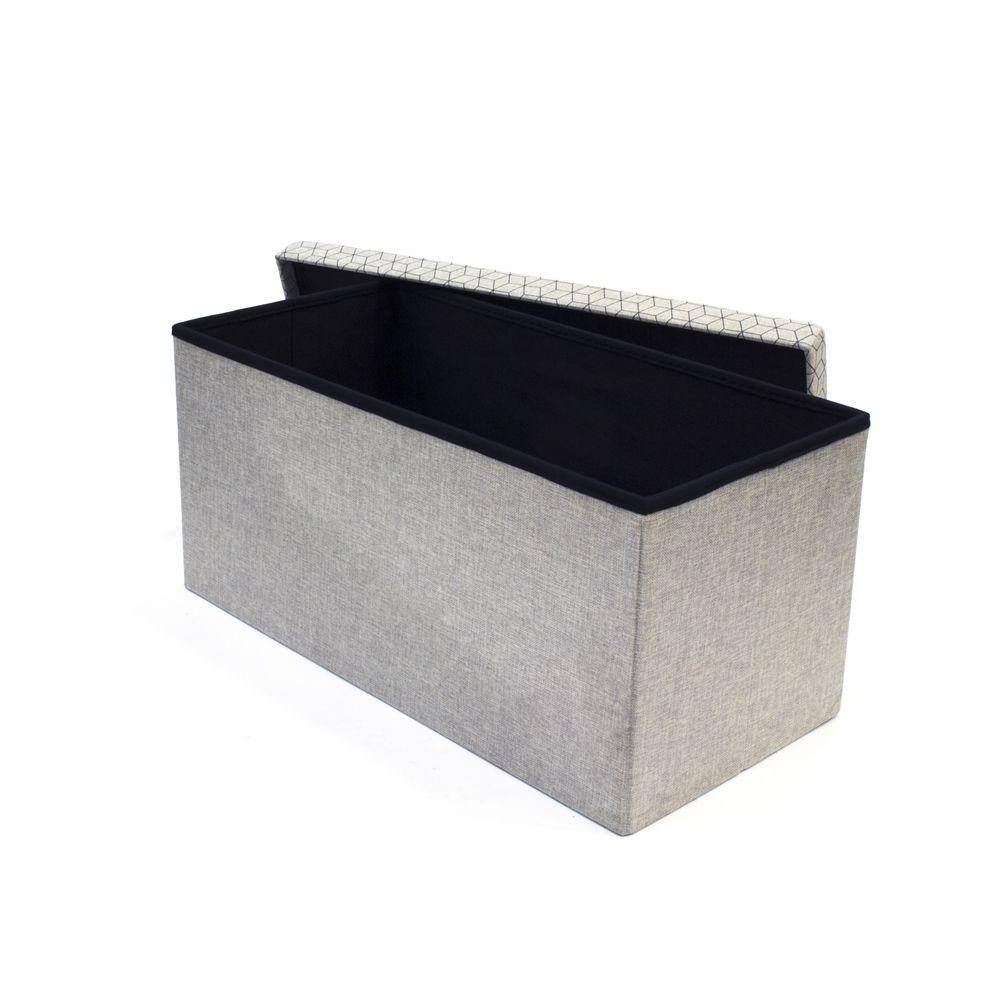 Coffre rangement banc tissu for Coffre de rangement interieur