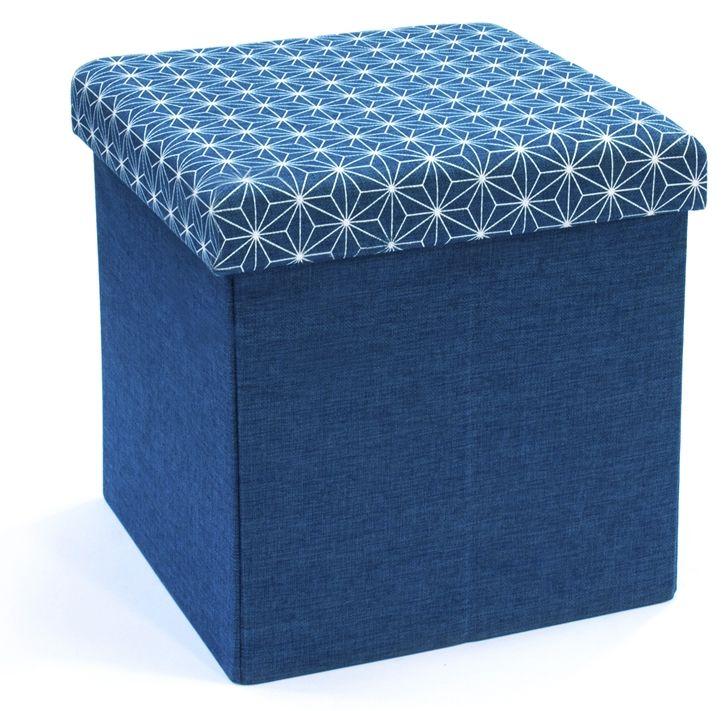 coffre rangement pouf tissu. Black Bedroom Furniture Sets. Home Design Ideas