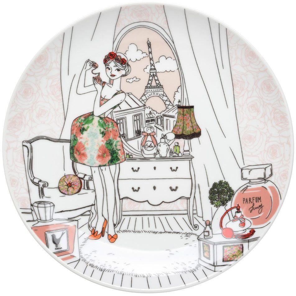 coffret 6 assiettes dessert parisiennes 3. Black Bedroom Furniture Sets. Home Design Ideas