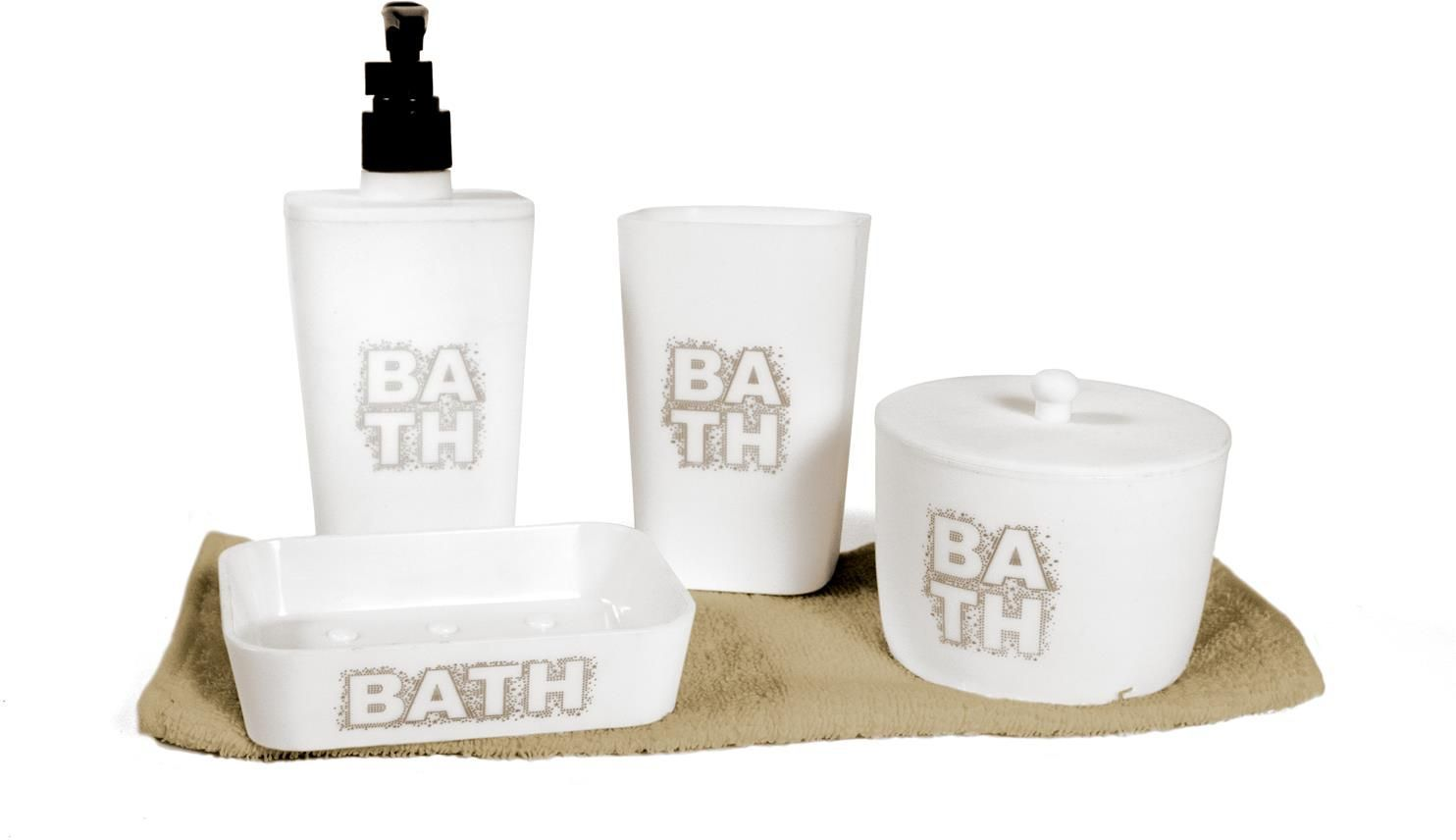 coffret 5 accessoires salle de bain bath. Black Bedroom Furniture Sets. Home Design Ideas