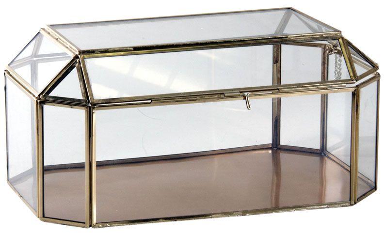 grand coffret bijoux en laiton et verre coffrets bijoux sur. Black Bedroom Furniture Sets. Home Design Ideas
