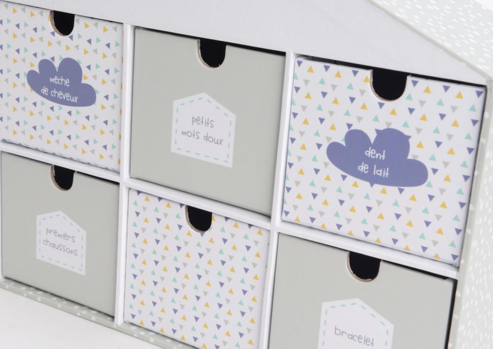 coffret rangement souvenirs de naissance. Black Bedroom Furniture Sets. Home Design Ideas