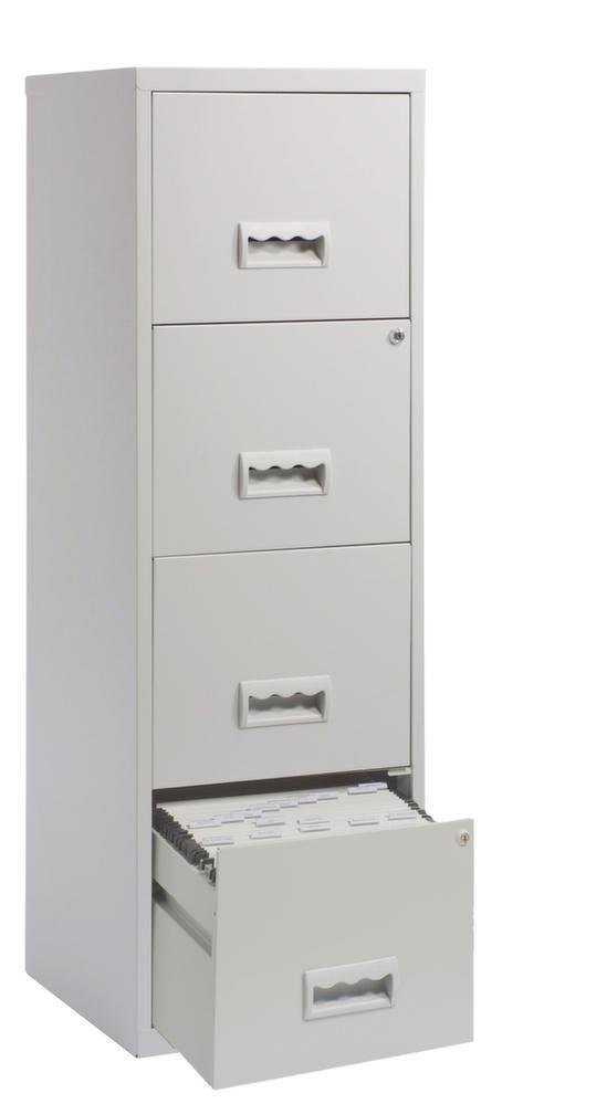 colonne de rangement tiroirs en m tal gris clair. Black Bedroom Furniture Sets. Home Design Ideas