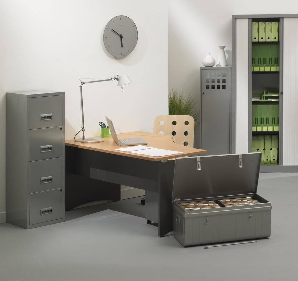 Colonne de rangement tiroirs en m tal for Colonne bureau