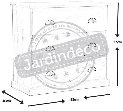 Commode 5 tiroirs en bois brut for Bon plan meuble gratuit