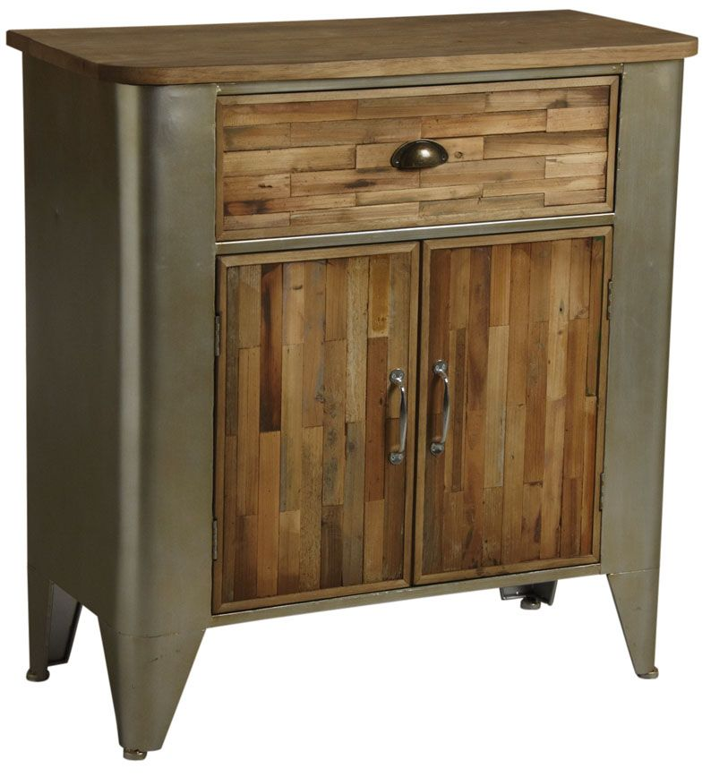 commode bois et m tal. Black Bedroom Furniture Sets. Home Design Ideas