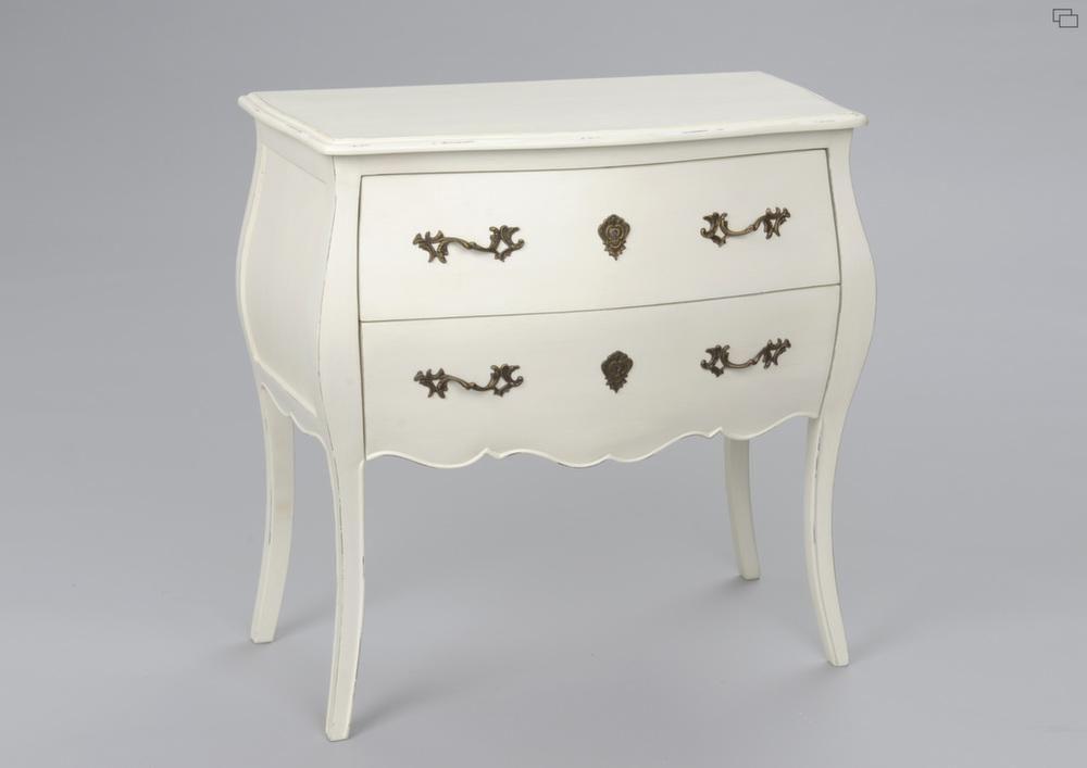 Commode 2 tiroirs blanc en bois mdf murano - Commode en bois blanc ...