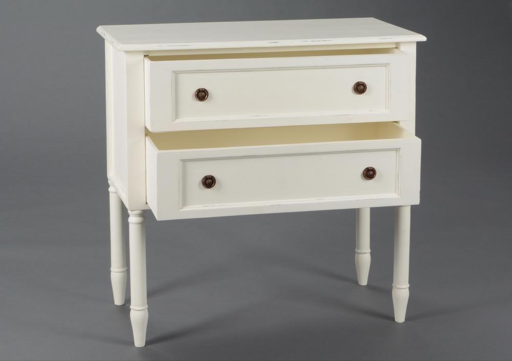 commode 2 tiroirs en bois brice. Black Bedroom Furniture Sets. Home Design Ideas