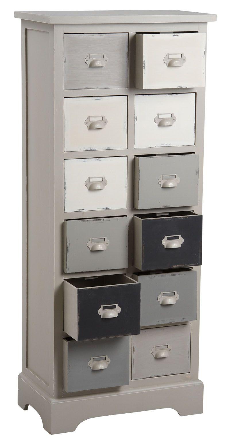 commode 12 tiroirs en pin. Black Bedroom Furniture Sets. Home Design Ideas