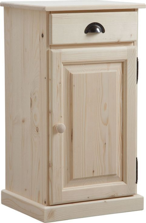 confiturier en bois brut 1 tiroir 1 porte