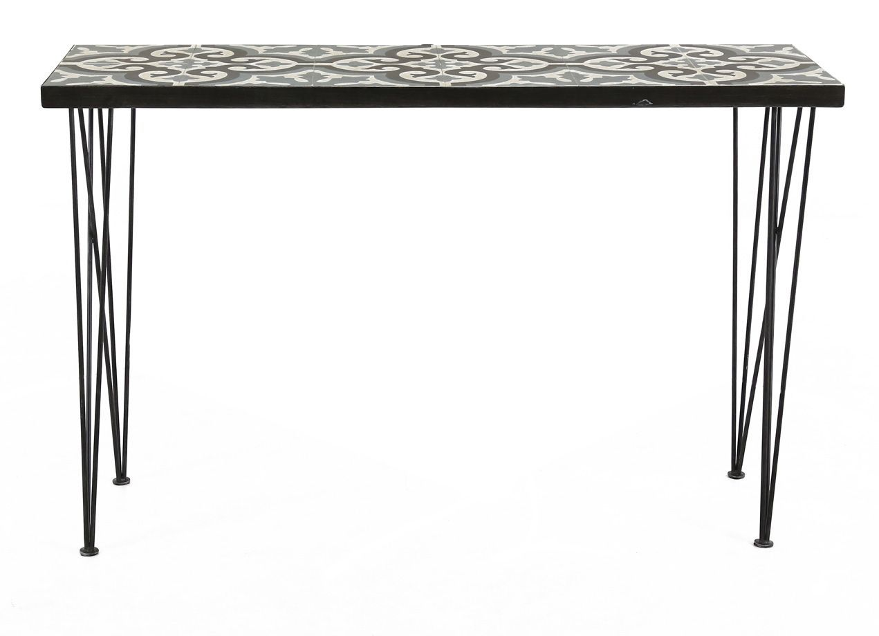 Console en carreaux de ciment Chic 120 cm-2