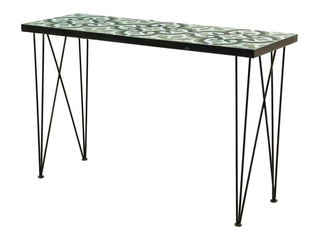 Console en carreaux de ciment Chic 120 cm