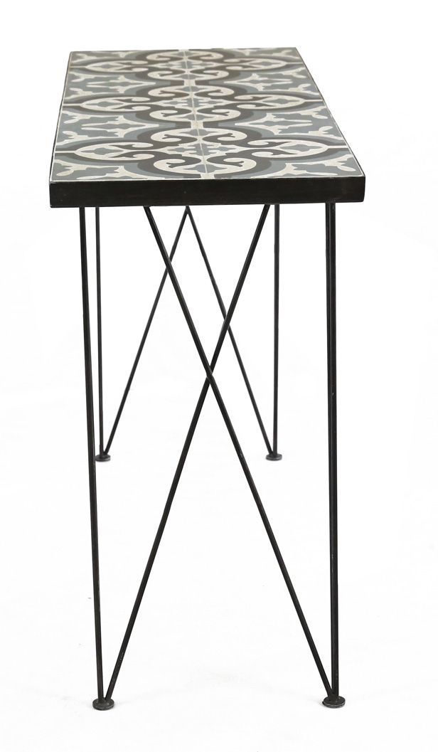 Console en carreaux de ciment Chic 120 cm-1