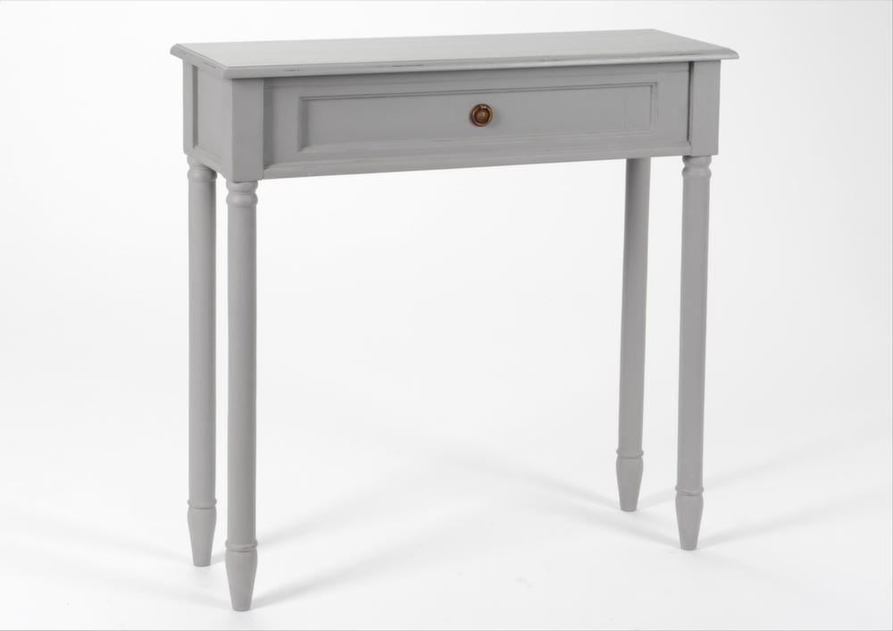console faux tiroir en bois brice gris. Black Bedroom Furniture Sets. Home Design Ideas