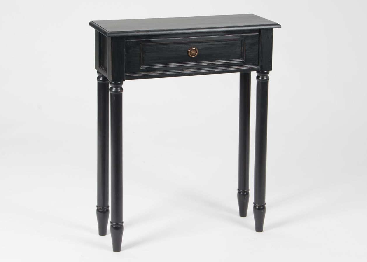 petite console en bois mdf noir. Black Bedroom Furniture Sets. Home Design Ideas
