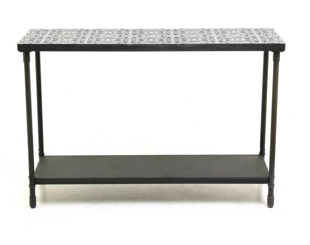 console 2 plateaux trendy 120 cm. Black Bedroom Furniture Sets. Home Design Ideas